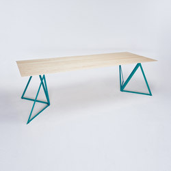 Steel Stand Table - ocean blue/ ash white | Dining tables | NEO/CRAFT
