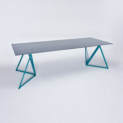 Steel Stand Table - ocean blue/ ash black | Dining tables | NEO/CRAFT