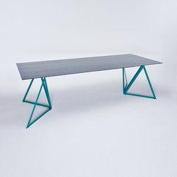 Steel Stand Table - ozeanblau/ esche schwarz | Esstische | NEO/CRAFT
