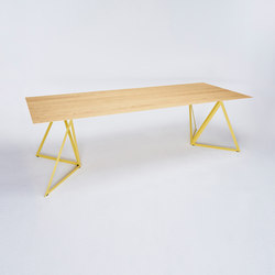 Steel Stand Table - lemon yellow/ ash natural | Mesas comedor | NEO/CRAFT