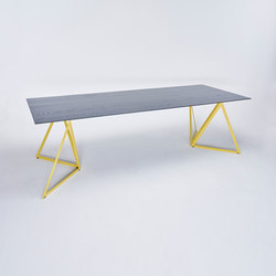 Steel Stand Table lemon yellow | Mesas comedor | NEO/CRAFT
