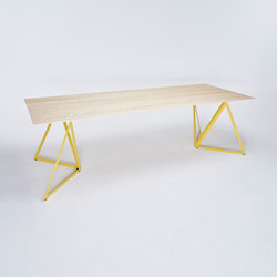 Steel Stand Table - lemon yellow/ ash white | Dining tables | NEO/CRAFT