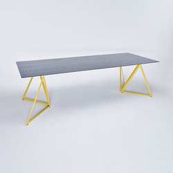 Steel Stand Table - lemon yellow/ ash black | Dining tables | NEO/CRAFT