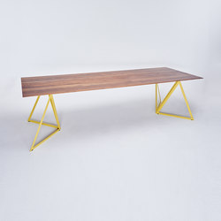 Steel Stand Table - lemon yellow/ walnut | Dining tables | NEO/CRAFT