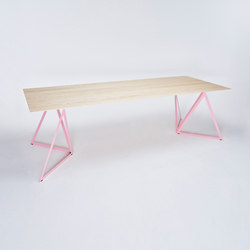 Steel Stand Table - light pink/ ash white | Dining tables | NEO/CRAFT