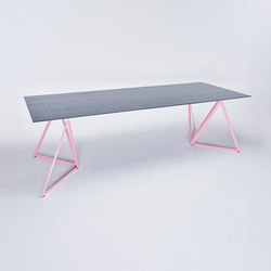 Steel Stand Table - light pink/ ash black | Dining tables | NEO/CRAFT