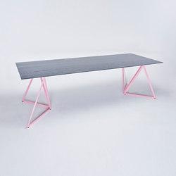 Steel Stand Table - hellrosa/ esche schwarz | Esstische | NEO/CRAFT