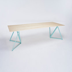 Steel Stand Table pastel turquoise | Tavoli da pranzo | NEO/CRAFT