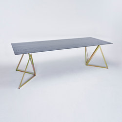 Steel Stand Table - gold galvanized/ ash black | Dining tables | NEO/CRAFT