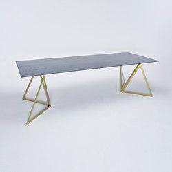 Steel Stand Table - gold galvanisiert/ esche schwarz | Esstische | NEO/CRAFT