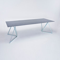 Steel Stand Table - silver galvanized/ ash black | Dining tables | NEO/CRAFT