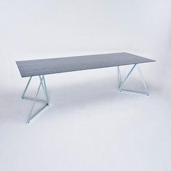 Steel Stand Table - silver galvanized/ esche schwarz | Esstische | NEO/CRAFT