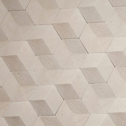 Hive | Etched Cream | Dalles en pierre naturelle | Tango Tile