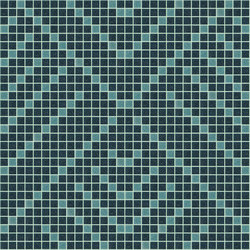 Decor Africa Now | Imani Blue 20x20 | Glass mosaics | Mosaico+