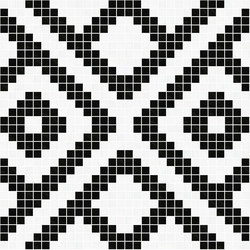 Decor Africa Now | Nok Black & White 20x20 | Mosaïques | Mosaico+