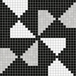 Decor Africa Now | Pinwheel Silver 20x20 | Glass mosaics | Mosaico+