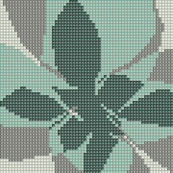 Decor Blooming | Fiore Pop F 10x10 | Glass mosaics | Mosaico+