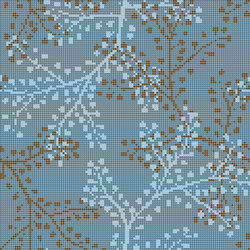 Decor Blooming | Gypso Blue 10x10 | Glass mosaics | Mosaico+