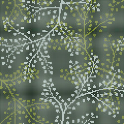 Decor Blooming | Gypso Green 10x10 | Glass mosaics | Mosaico+