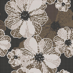 Decor Blooming | Poppy Suit Beige 10x10 | Glass mosaics | Mosaico+