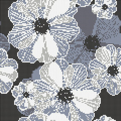 Decor Blooming | Poppy Suit Grey 10x10 | Glass mosaics | Mosaico+