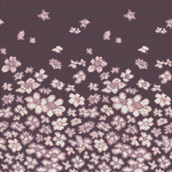 Decor Blooming | Wind Flowers Pink 10x10 | Glass mosaics | Mosaico+