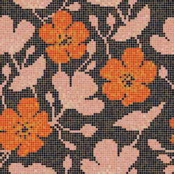 Decor Blooming | Sakura Orange 15x15 | Glass mosaics | Mosaico+