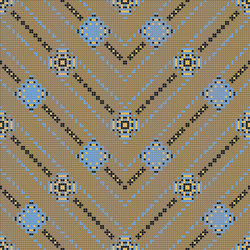Decor Geometric | Carpet Beige 10x10 | Mosaïques | Mosaico+