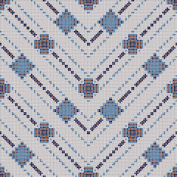 Decor Geometric | Carpet Blue 10x10 | Glass mosaics | Mosaico+