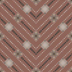Decor Geometric | Carpet Red 10x10 | Mosaïques | Mosaico+