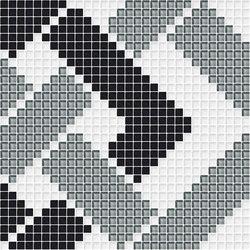 Decor Geometric | Grating White 10x10 | Mosaïques | Mosaico+