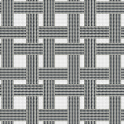 Decor Geometric | Hemp Grey 10x10 | Glass mosaics | Mosaico+
