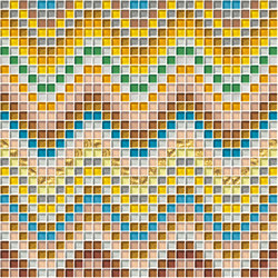 Decor Geometric | Knitting Oro 10x10 | Glass mosaics | Mosaico+