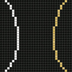 Decor Geometric | Loop Black Gold 10x10 | Glass mosaics | Mosaico+