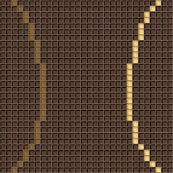 Decor Geometric | Loop Brown 10x10 | Mosaïques | Mosaico+