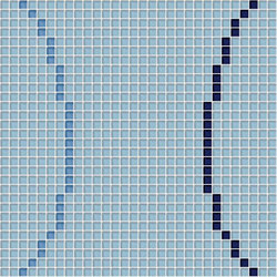 Decor Geometric | Loop Light Blue 10x10 | Glas Mosaike | Mosaico+