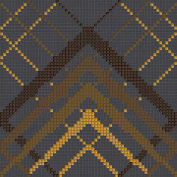 Decor Geometric | Overlap Black Gold 10x10 | Mosaici | Mosaico+