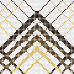 Decor Geometric | Overlap White Gold 10x10 | Mosaïques | Mosaico+