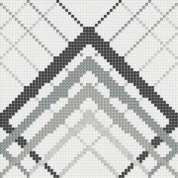 Decor Geometric | Overlap White Silver 10x10 | Glass mosaics | Mosaico+