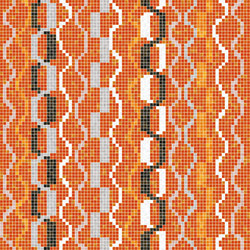 Decor Geometric | Amadi Orange 15x15 | Mosaïques | Mosaico+
