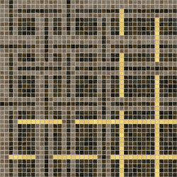Decor Geometric | Cloth Beige 15x15 | Glass mosaics | Mosaico+