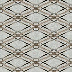 Decor Geometric | Grid Taupe 15x15 | Glass mosaics | Mosaico+