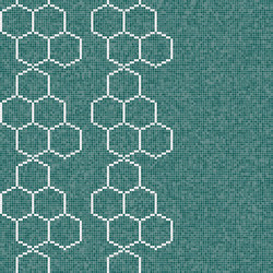 Decor Geometric | Hexagon Blue 15x15 | Mosaicos | Mosaico+