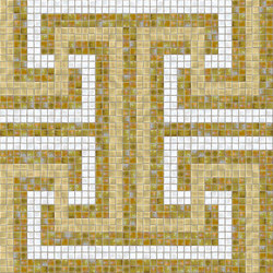 Decor Geometric | Labyrinth Beige 15x15 | Mosaïques | Mosaico+