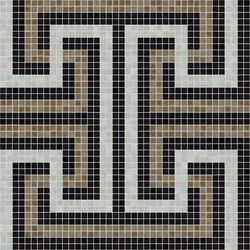 Decor Geometric | Labyrinth Black 15x15 | Glass mosaics | Mosaico+