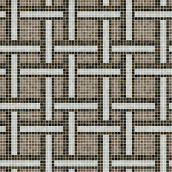 Decor Geometric | Link Brown 15x15 | Mosaïques verre | Mosaico+