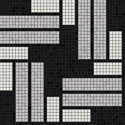 Decor Geometric | Pivot Silver A 15x15 | Glass mosaics | Mosaico+