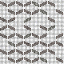 Decor Geometric | Rumble Grey 15x15 | Glass mosaics | Mosaico+