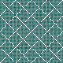 Decor Geometric | Weaving Pattern Blue 15x15 | Mosaïques | Mosaico+