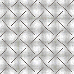Weaving Pattern Grey | Glass mosaics | Mosaico+